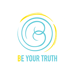 Be your truth logo with white circle